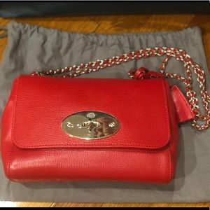 667de5cc8f80 Mulberry Bags - Bright Red Glossy Goat Small Lily